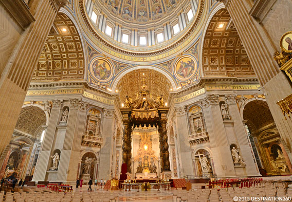 St Peters Basilica Inside