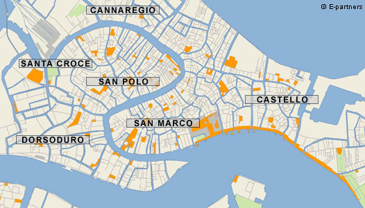 Neighborhoods of Venice Map