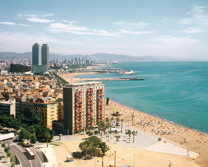 famous beaches in spain. Barcelona eaches are one of