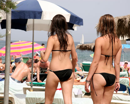Comely bikini clad Ibiza girls have been traveling to this island since, ...
