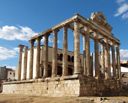 Merida Spain Aqueduct In Spain Roman Ruins In Spain