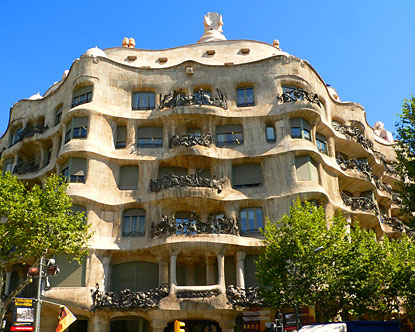 The Casa Mila, more commonly known as La Pedrera.