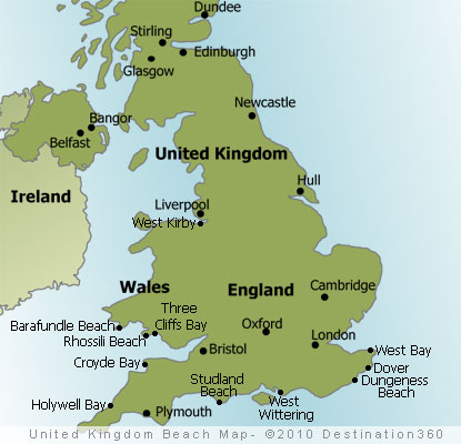 UK Beaches Map   UK Beach Map