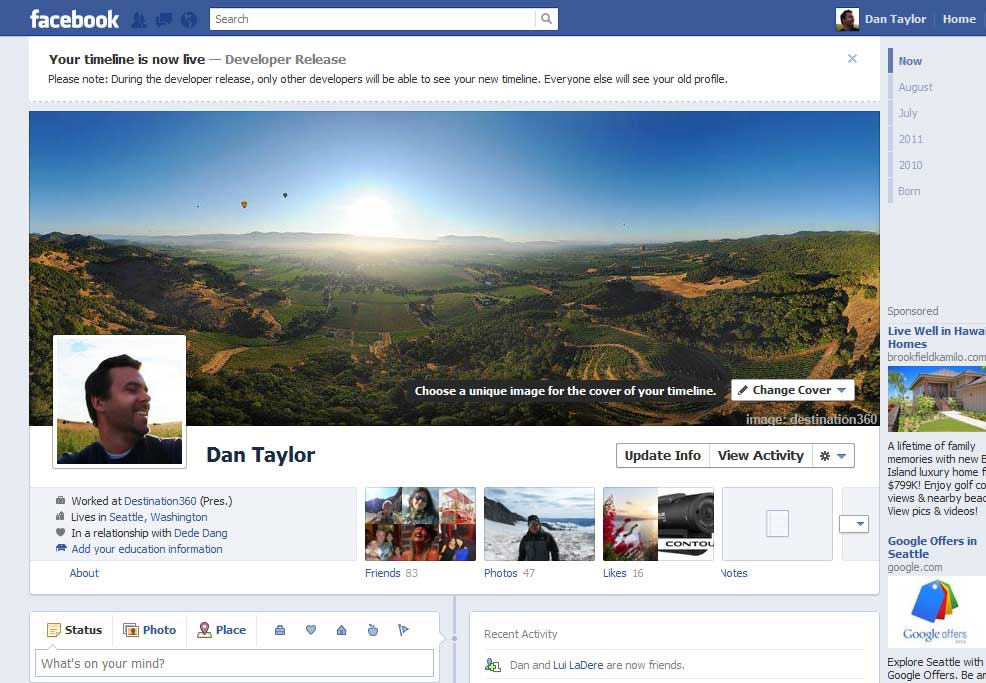 Changing Facebook Cover Photo
