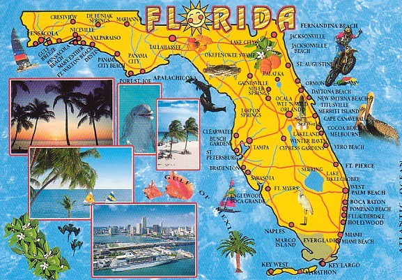 Map of Florida Things To Do