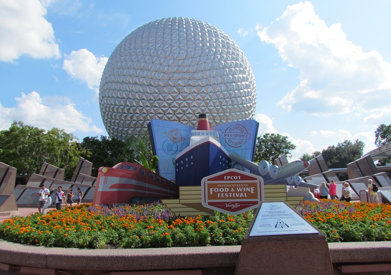 The entrance to Epcot Center