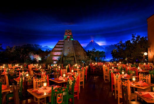 Restaurants at Epcot Center include La Hacienda de San Angel