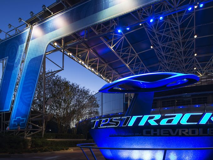 Rides at Epcot Center include Test Track
