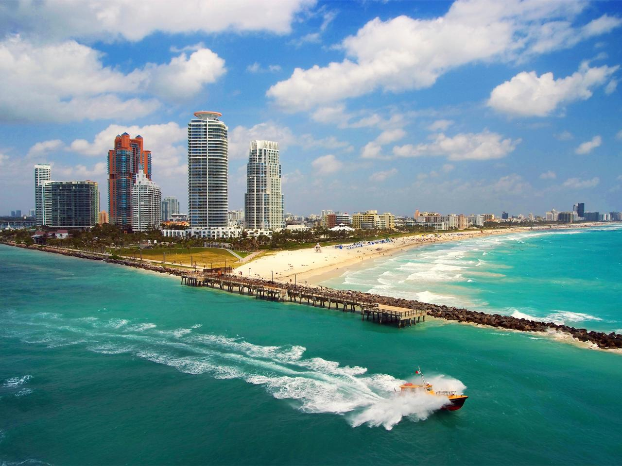 South Beach Florida is nice year-round