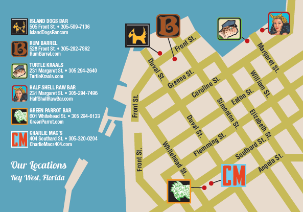 Map of Key West Bars