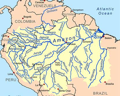 Amazon Jungle Map Amazon Rainforest Map Amazon Jungle Map