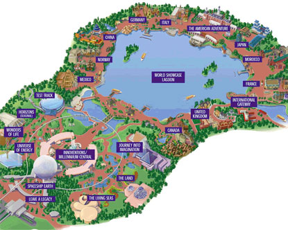Map of Epcot Center