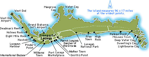 Freeport Bahamas Map