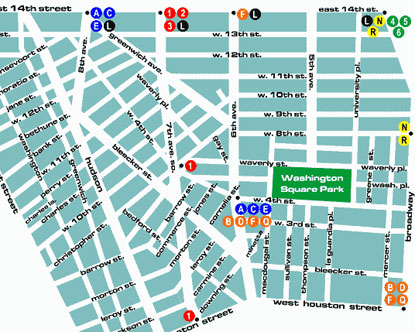 Greenwich Village Map