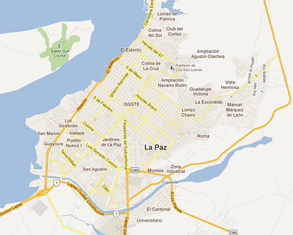 Map of La Paz Mexico