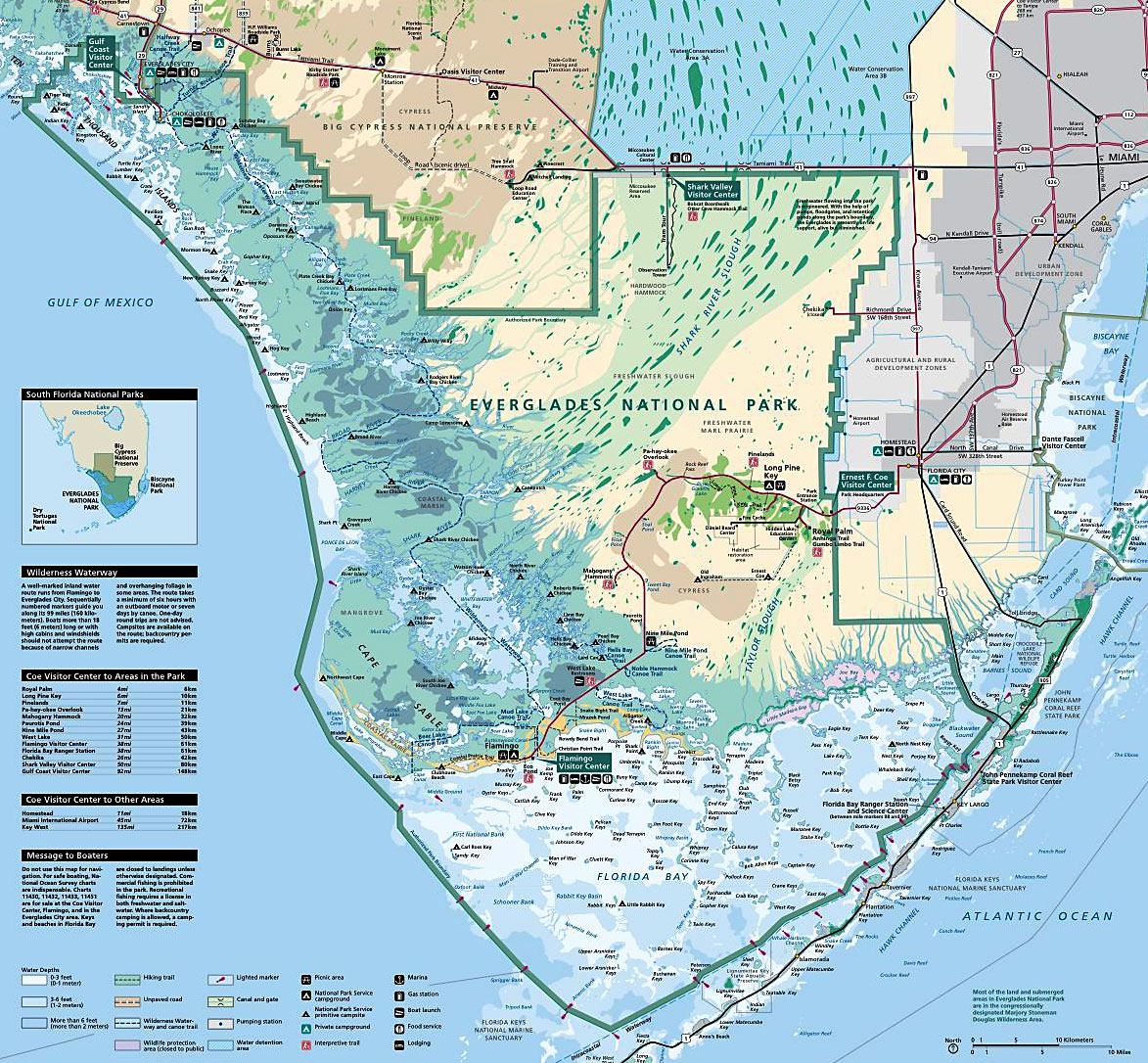 Florida Everglades Map.Map Of The Everglades Florida Everglades Map
