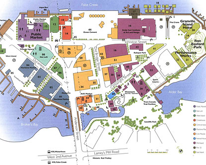 Map of Granville Island