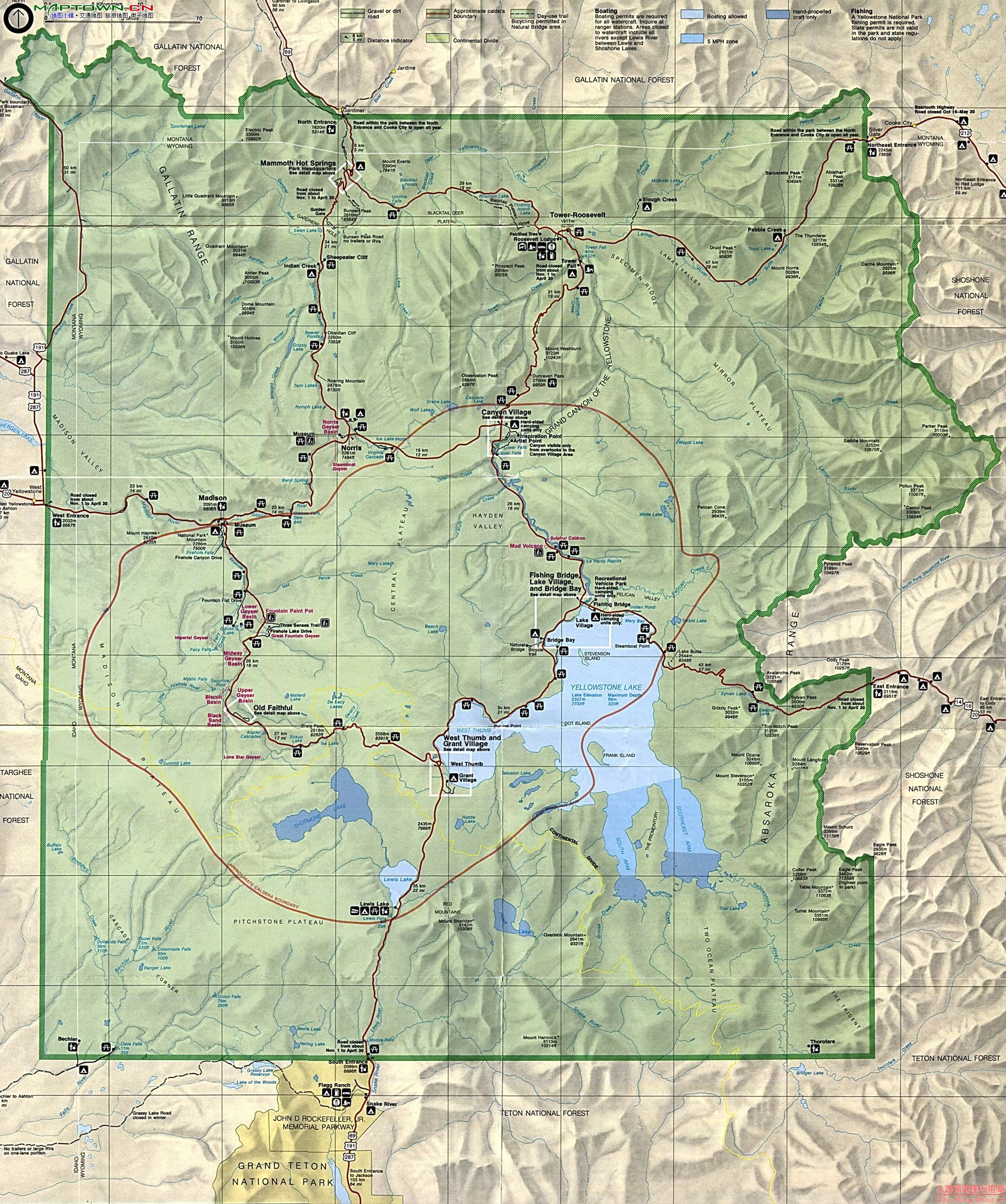 Rocky Mountains Wyoming Map