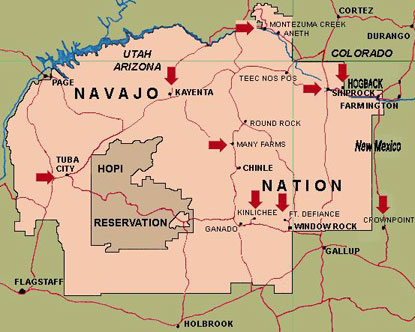 Navajo Nation Map