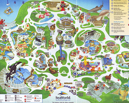Map of SeaWorld Orlando