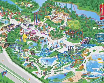 six flag new england map Six Flags New England Map