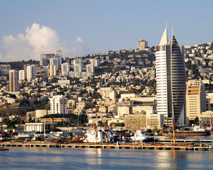 View of haifa from the bay