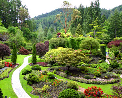 Map of Butchart Gardens
