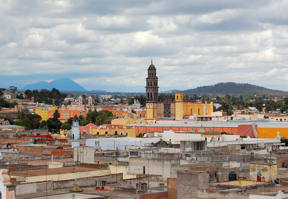 Puebla Mexico Skyline
