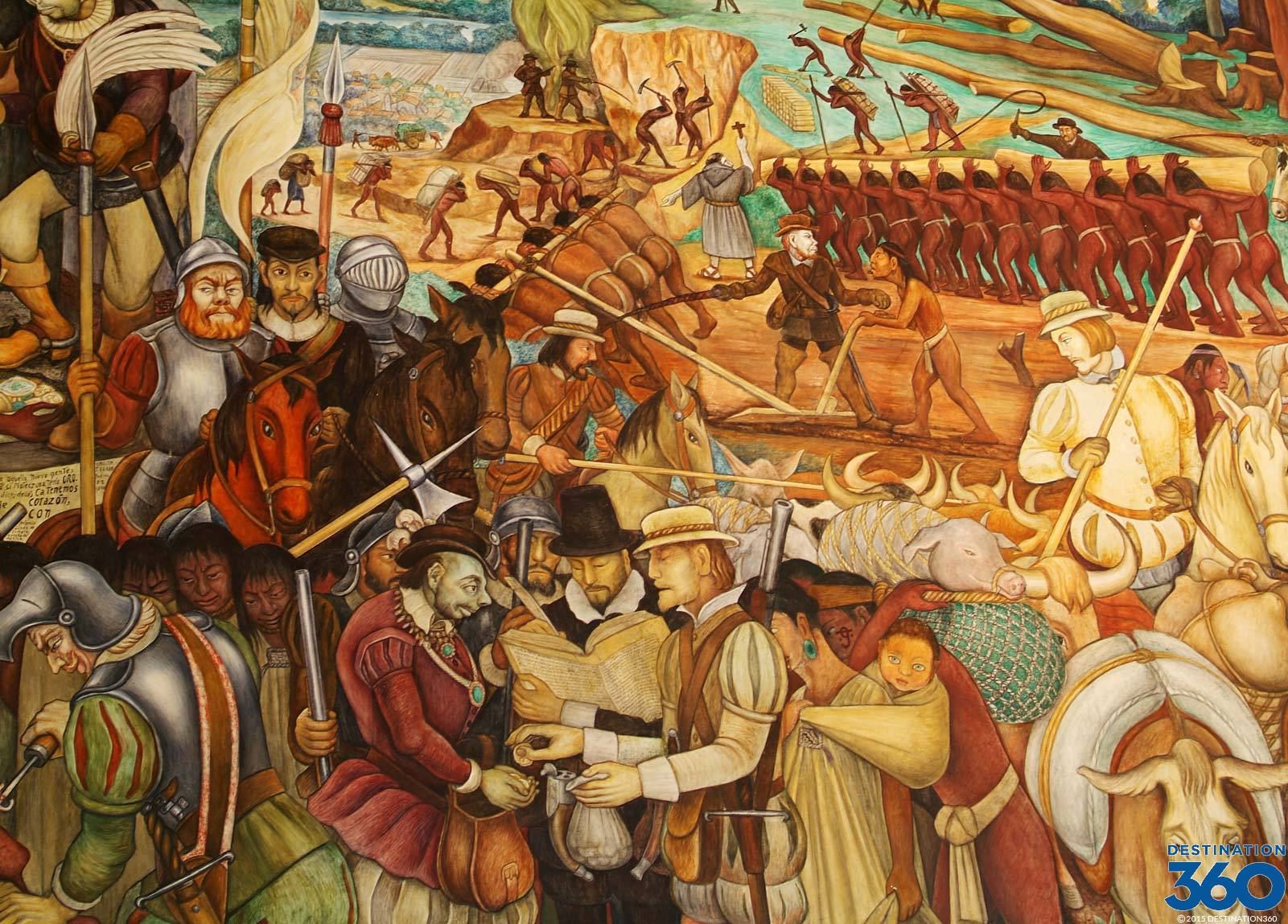 Diego rivera famous murals mexican revolution www for Diego riveras mural