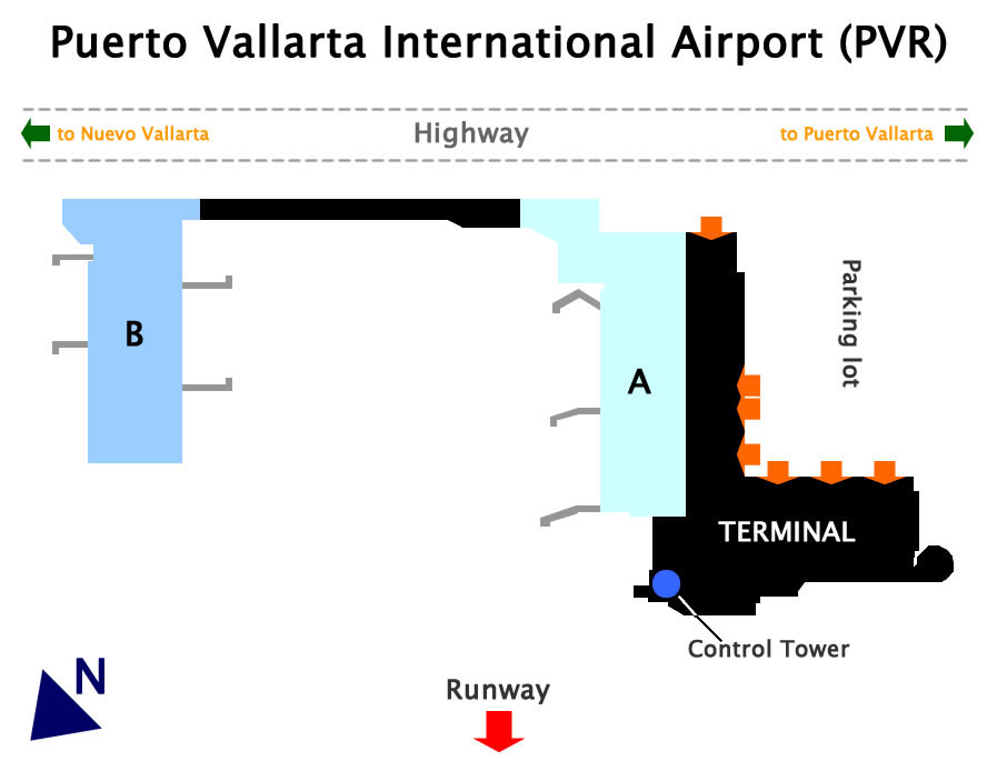Puerto Vallarta Airport Map