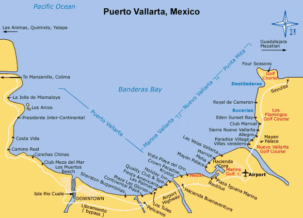 Puerto Vallarta Hotels Map
