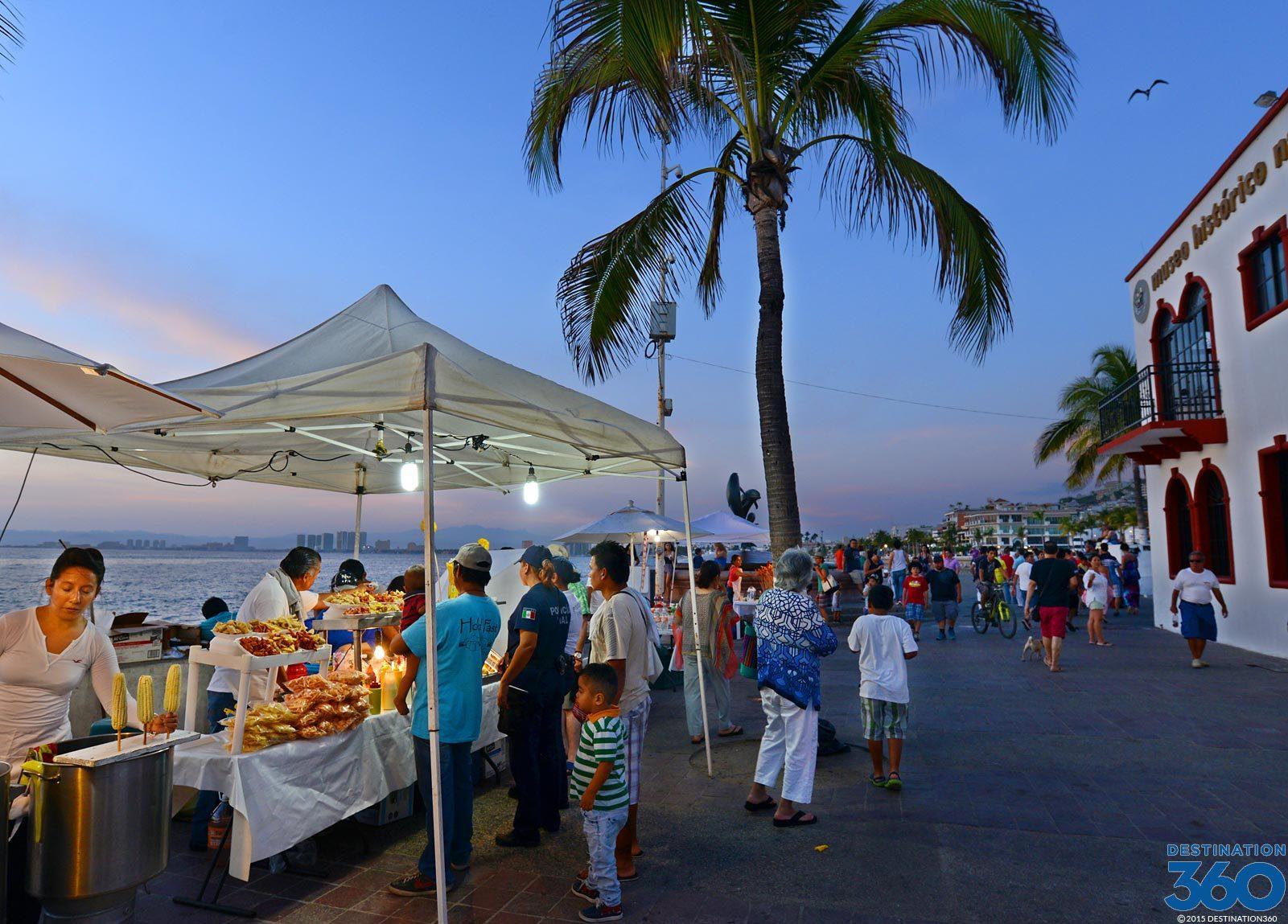 Malecon Puerto Vallarta Boardwalk In Puerto Vallarta