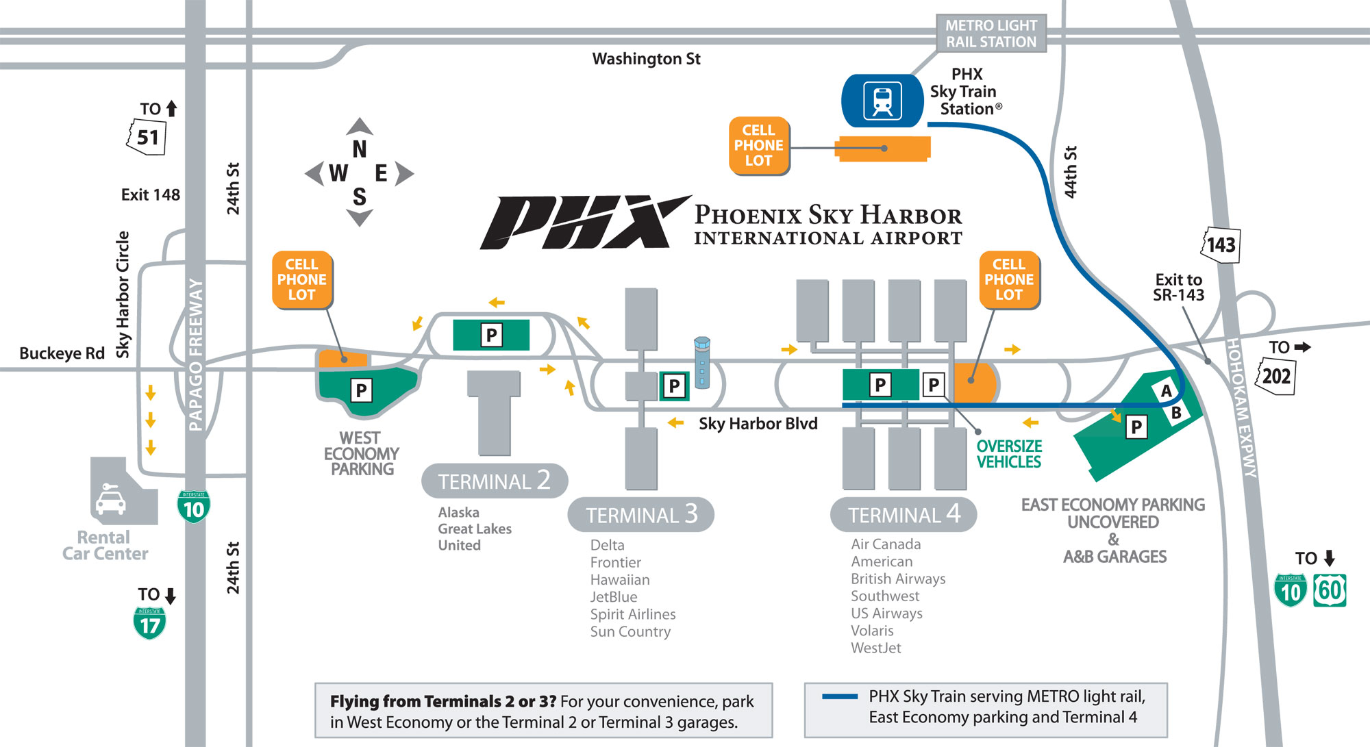 Sky Harbor International Airport Map