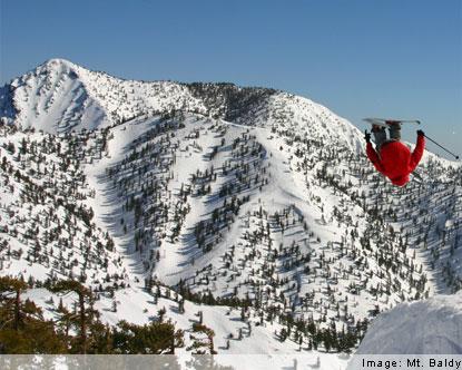 Mt Baldy Ski Resort Mt Baldy California Mt Baldy Ski Area - Mt baldy map on map of us