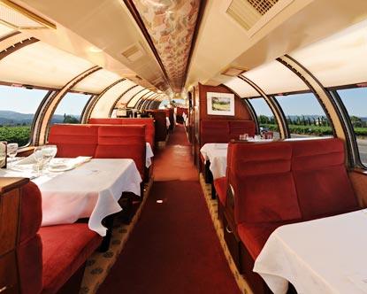 Vista Dome Car Napa Wine Train