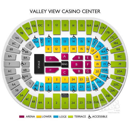 Valley View Casino Seating Chart