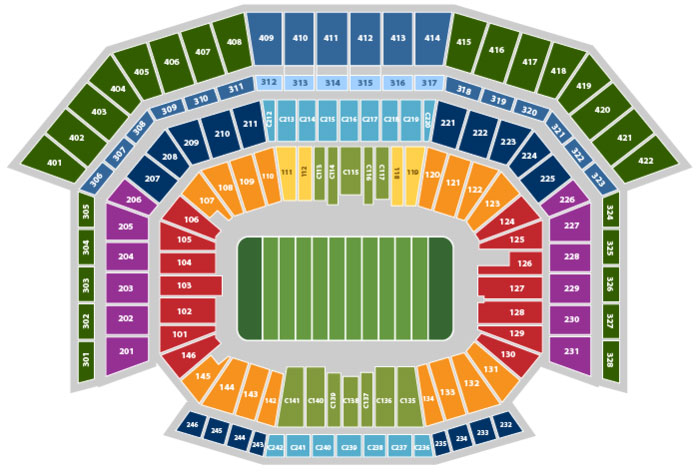 Levi's Stadium Seating Chart