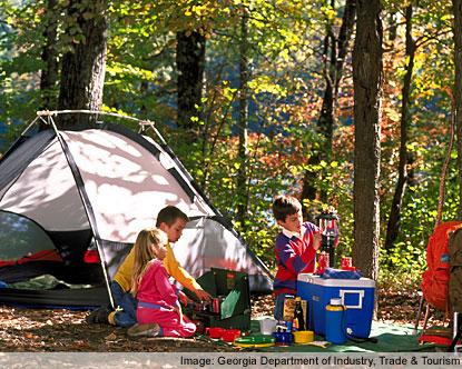 Georgia Camping Campgrounds In North Georgia