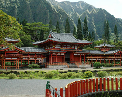 Byodoin Temple in Oahu, Hawaii