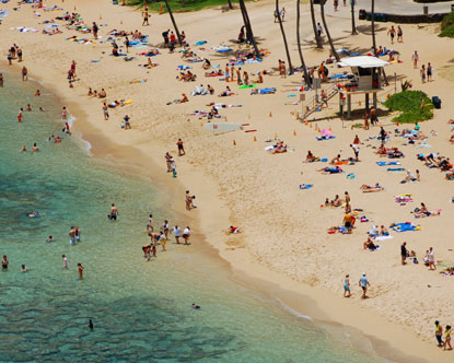A map of beaches on Oahu reveals sandy expanses all over
