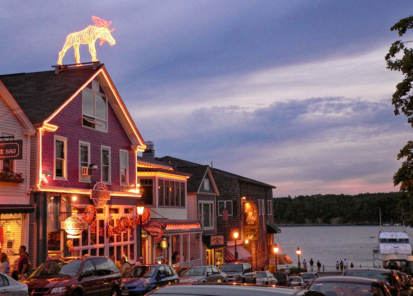 Bar Harbor at dusk