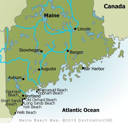 Maine Coastal Map Maine Beaches Map   Maine Coast Map