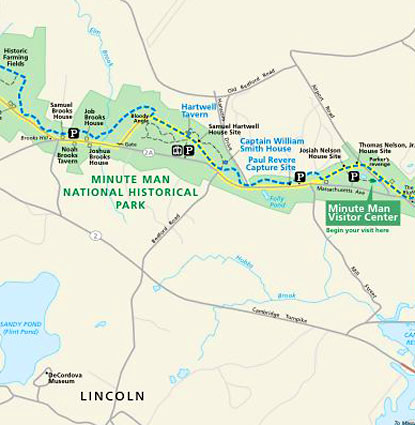 Minute Man National Park Map