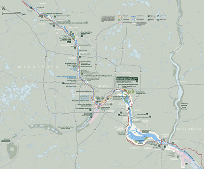 Map Of The Mississippi River In Minnesota  Mississippi