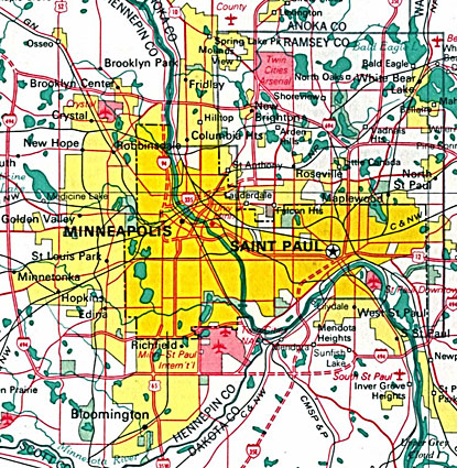 Street Map Of Minneapolis Minnesota