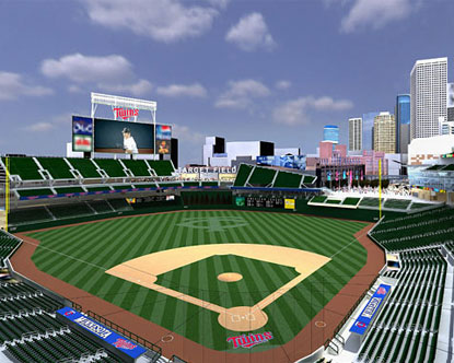 target field twins. Target Field, the new home of