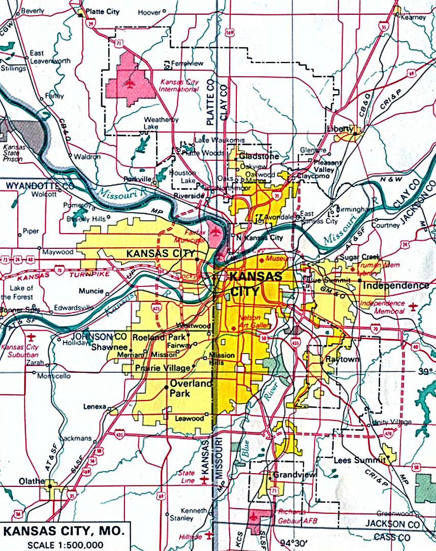 Map of Kansas City - Kansas City Metro Area Map