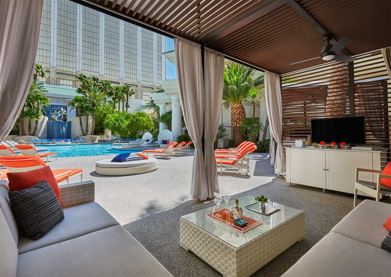 Pool Cabana at the Four Seasons Las Vegas