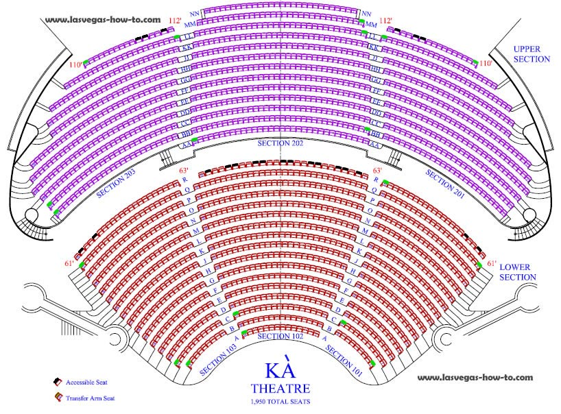 KA Las Vegas Seating Chart