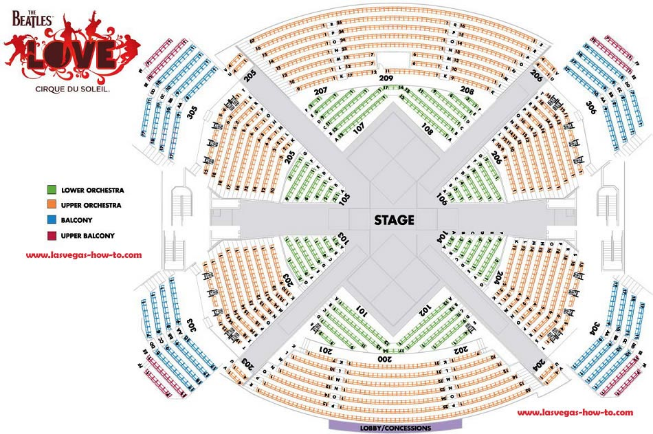 LOVE Las Vegas Seating Chart